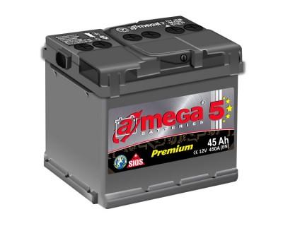 A-mega 5 Premium 45Ah-450Aen L+ - фото 1
