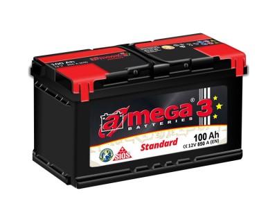 A-mega 3 Standard 100Ah-850A(en) R+ - фото 1