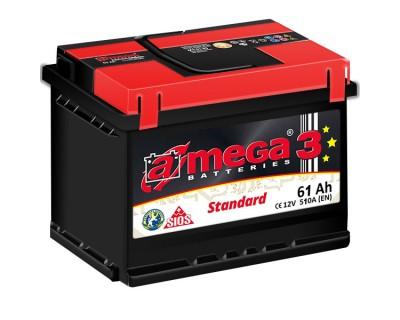A-mega 3 Standard 61Ah-510Aen (h-175) R+ - фото 1