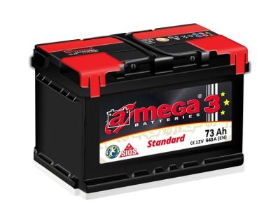 A-mega 3 Standard 73Ah-640Aen (h-175) R+ - фото 1