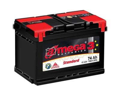 A-mega 3 Standard 74Ah-720Aen R+ - фото 1
