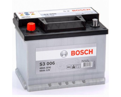 Bosch S3 (S3 006) 6 CT-56Ah-480A(en) (1) L+ - фото 1
