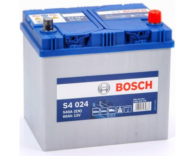 Bosch S4 (S4 024) 6 CT-60Ah-540A(en) Jis (0) R+ - фото 1