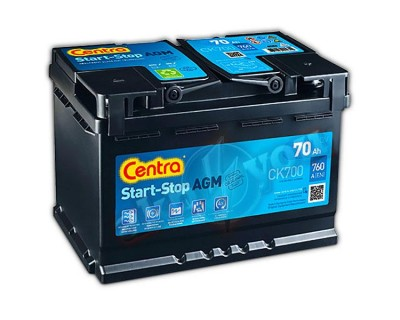 Centra Start-Stop AGM CK700 (6 CT-70) 70Ah-760Aen R+ - фото 1
