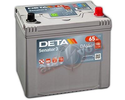 Deta Senator3 DA654 (6 CT-65) 65Ah-580Aen R+ - фото 1