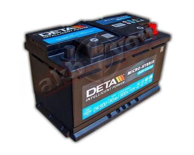 Deta Intelligent Power AGM DK800 (6 CT-80) 80Ah-800Aen R+ - фото 1