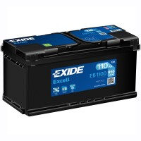 Exide Excell EB1100 6 CT- 110Ah-850Aen R+
