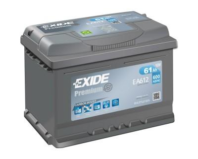 Exide Premium EA612 (6 CT-61) 61Ah-600Aen R+ (h-175) - фото 1