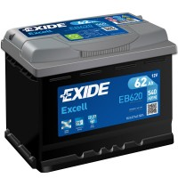 Exide Excell EB620 (6 CT-62) 62Ah-540Aen R+