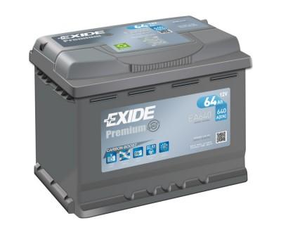 Exide Premium EA640 (6 CT-64) 64Ah-640Aen R+ - фото 1