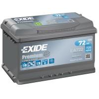 Exide Premium EA722 (6 CT-72) 72Ah-720Aen R+ (h-175)