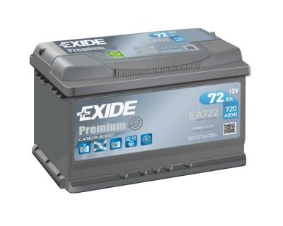 Exide Premium EA722 (6 CT-72) 72Ah-720Aen R+ (h-175) - фото 1