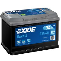 Exide Excell EB740 (6 CT-74) 74Ah-680Aen R+