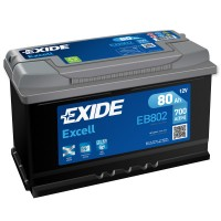 Exide Excell EB802 (6 CT-80) 80Ah-700Aen R+ (h-175)