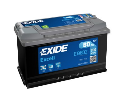 Exide Excell EB802 (6 CT-80) 80Ah-700Aen R+ (h-175) - фото 1