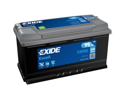 Exide Excell EB950 (6 CT-95) 95Ah-800Aen R+ - фото 1