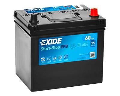 Exide Start-Stop EFB EL604 6CT-60Ah-520A(en) (0) R+ - фото 1