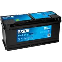 Exide Start-Stop AGM EK1050 105Ah-950Aen R+