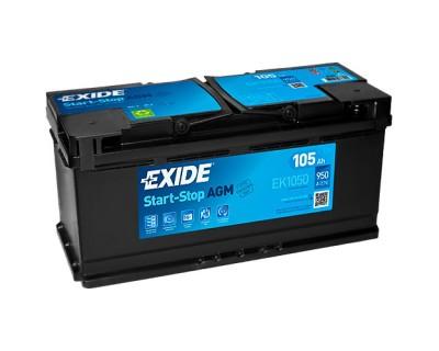 Exide Start-Stop AGM EK1050 105Ah-950Aen R+ - фото 1
