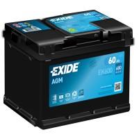 Exide Start-Stop AGM EK600 60Ah-680Aen R+