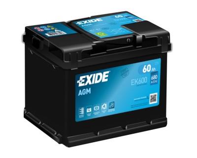 Exide Start-Stop AGM EK600 60Ah-680Aen R+ - фото 1