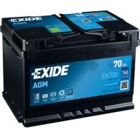 Exide Start-Stop AGM EK700 70Ah-760Aen R+