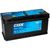 Exide Start-Stop EFB EL1050 105Ah-950Aen R+