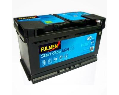 Fulmen Start-Stop AGM FK800 80Ah-800Aen (0) R+ - фото 1