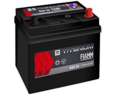 Fiamm Black Titanium D20 50 7905174 (6 CT-50) 50Ah-420Aen R+ - фото 1