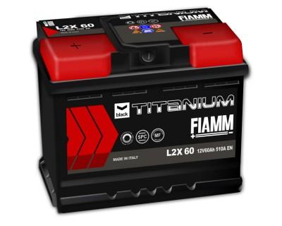 Fiamm Black Titanium L2X-60 7905179 (6 CT-60) 60Ah-510Aen L+ - фото 1