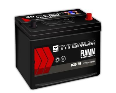 Fiamm Black Titanium D26 75 7905188 (6 CT-75) 75Ah-640Aen R+ - фото 1