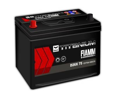 Fiamm Black Titanium D26X 75 7905189 (6 CT-75) 75Ah-640Aen L+ - фото 1