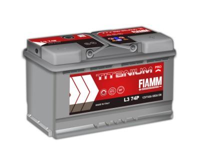 Fiamm Titanium Pro L3 74P 7905154 (6 CT-74) 74Ah-680Aen R+ - фото 1