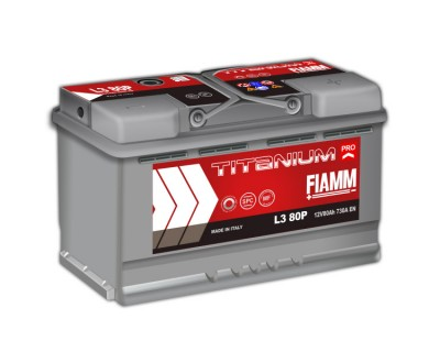 Fiamm Titanium Pro L3 80P 7905157 (6 CT-80) 80Ah-730Aen R+ - фото 1