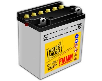 Fiamm Motor Energy FB Technology 12N10-3A 7904444 12V 10Ah R+ - фото 1