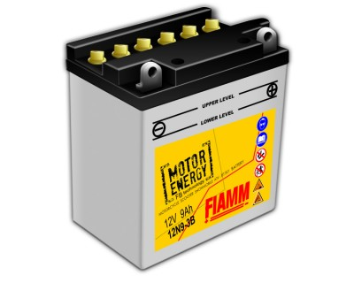 Fiamm Motor Energy FB Technology 12N9-3B 7904442 12V 9Ah R+ - фото 1