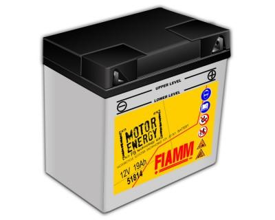Fiamm Motor Energy FB Technology 51814  7904457  12V 19Ah R+ - фото 1