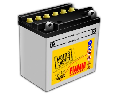 Fiamm Motor Energy FB Technology FB7B-B 7904453 12V 7Ah L+ - фото 1