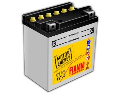 Fiamm Motor Energy FB Technology FB7L-B 7904438 12V 8Ah R+ - фото 1