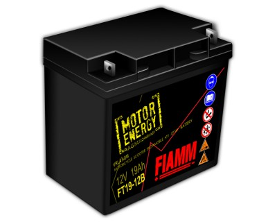 Fiamm Motor Energy AGM Technology FT19-12B 7904473 12V 19Ah R+ - фото 1
