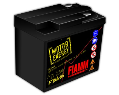 Fiamm Motor Energy AGM Technology FTR4A-BS 7904474 12V 2.3Ah R+ - фото 1