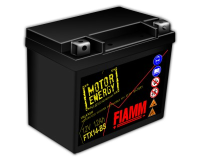 Fiamm Motor Energy AGM Technology FTX14-BS 7904489 12V 12Ah L+ - фото 1
