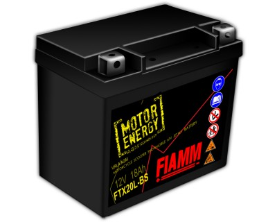 Fiamm Motor Energy AGM Technology FTX20L-BS 7904492 12V 18Ah R+ - фото 1