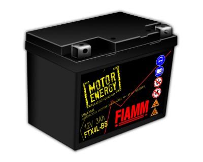 Fiamm Motor Energy AGM Technology FTX4L-BS 7904475 12V 3Ah R+ - фото 1