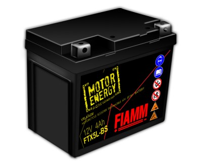 Fiamm Motor Energy AGM Technology FTX5L-BS 7904476 12V 4Ah R+ - фото 1