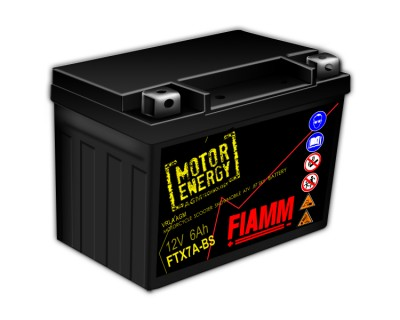 Fiamm Motor Energy AGM Technology FTX7A-BS 7904479 12V 6Ah L+ - фото 1