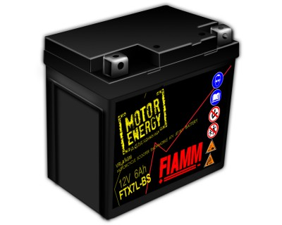 Fiamm Motor Energy AGM Technology FTX7L-BS 7904478 12V 6Ah R+ - фото 1
