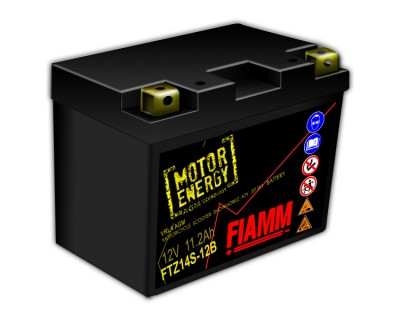 Fiamm Motor Energy AGM Technology FTZ14S-12B 7904472 12V 11.2Ah L+ - фото 1