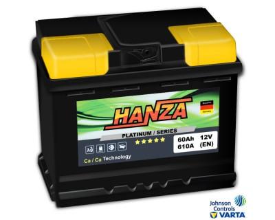 Hanza Platinum (6 CT-60) 60Ah-610Aen R+ - фото 1
