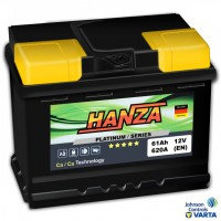 Hanza Platinum (6 CT-61) 61Ah-620Aen R+ (h-175)